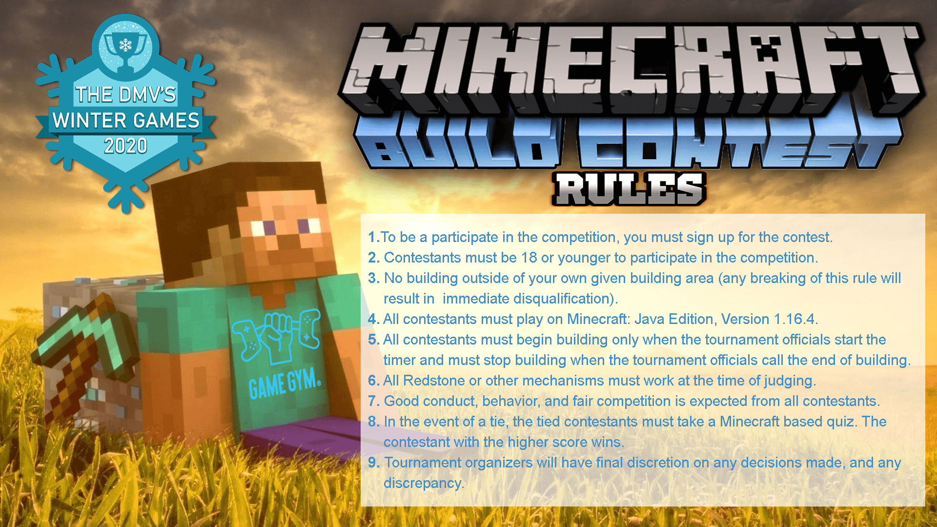 Minecraft Build Competition Rules