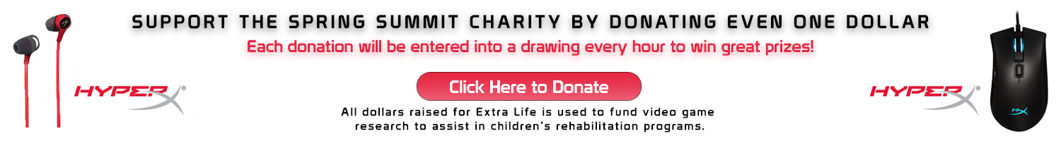 Support Extra Life   Donate   Win Prizes
