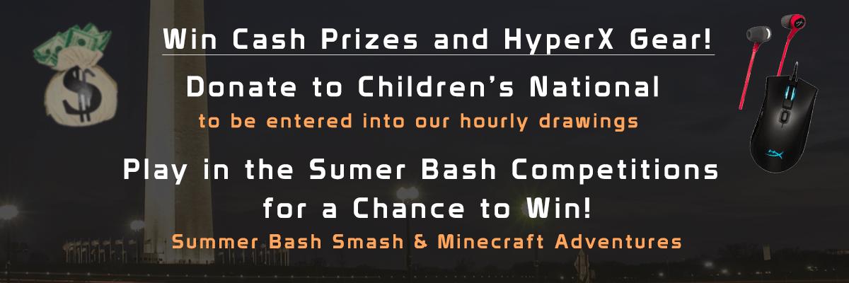 Summer Bash Prizes